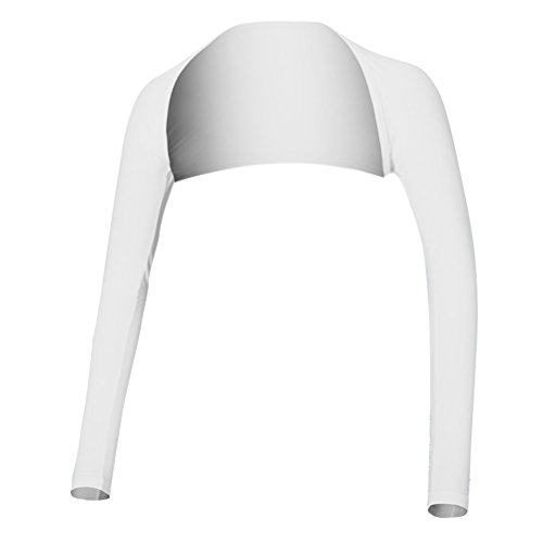 VORCOOL アンチUV冷却ショールアームスリーブ太陽の保護快適な通気性女性のアウトドアスポーツ - サイズL(ホワイト)