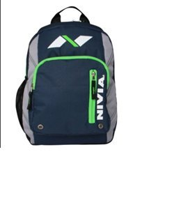 Nivia Jr Trap Back Pack with Mesh, 17 inch (Navy Blue)