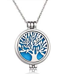 Wish House Tree of Life Necklace Aromatherapy Essential Oil Diffuser Necklace,...