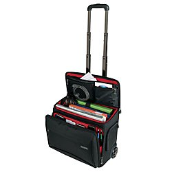 Ativa(TM) Mobil-IT Rolling Briefcase Ultimate Carry-On Workmate, 11.5in.H x 17.5in.W x 16.5in.D, Black by Ativa Mobil-IT