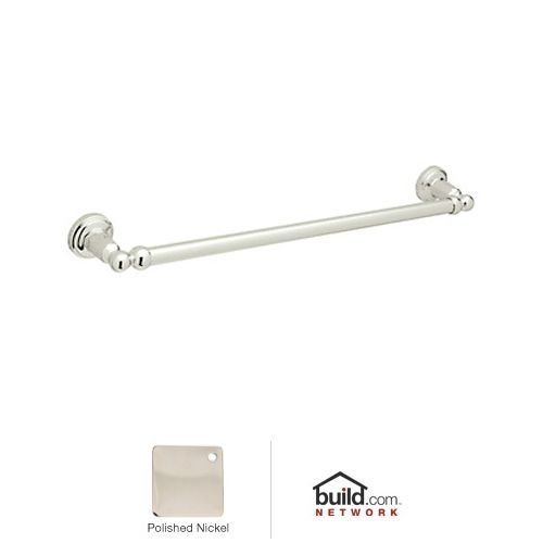 Rohl U.6940PN Perrin and Rowe Single Towel Bar in Polished Nickel, 19-1/2-Inch