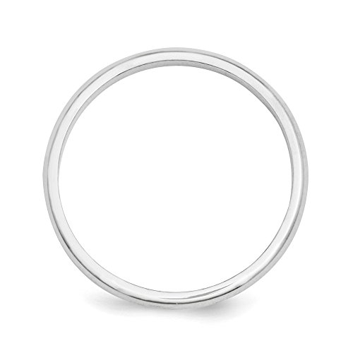 Platinum 2mm Half Round Wedding Ring Band Size 5.00 Classic Domed Fashion Jewelry For Women Gifts For Her