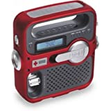 Eton American Red Cross ARCFR360R Solarlink Self-Powered Digital AM/FM/NOAA Radio with Solar Power, Flashlight and Cell Phone Charger (Red)