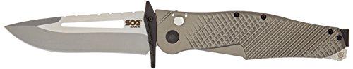 SOG Quake XL Assisted Folding Knife IM1101-BX - Dual Finish 4.5