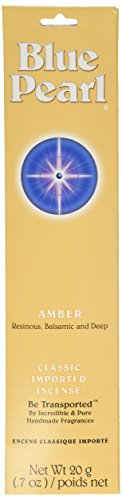 Incense Blue - Blue Pearl Classic Fragrance Incense, Amber, 20 Gram