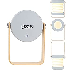 31D5FQj J5S. SS300 Tischlampe LED Nachttischlampe, SZSMD Nachtlicht Laterne Vintage Touch Dimmbar, Klappbare Tragbare Laternenlicht…