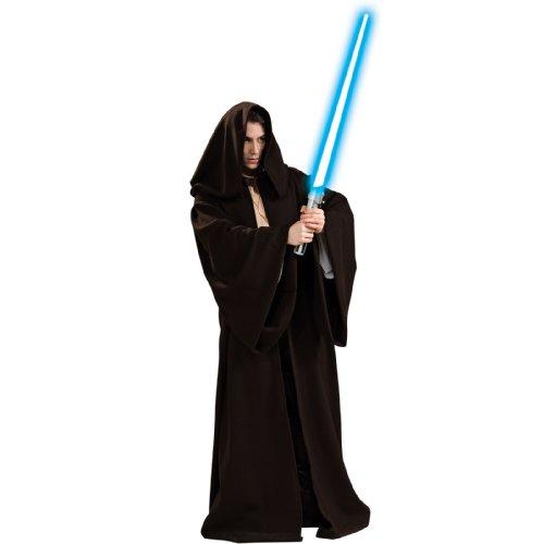 Rubie's Men's Jedi Super Deluxe Adult Robe, Black, One Size