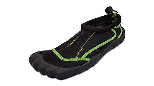 Slipper Rack Womens Waterproof Yoga Exercise Foot Water Shoes, Aqua Socks Black