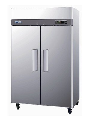 M3R472 47 cu. ft. Capacity M3 Series Refrigerator with 2 Solid Doors Digital Temperature Control System Hot Gas Condensate System Efficient Refrigeration System and Stainless Steel Cabinet Construction in Stainless Steel