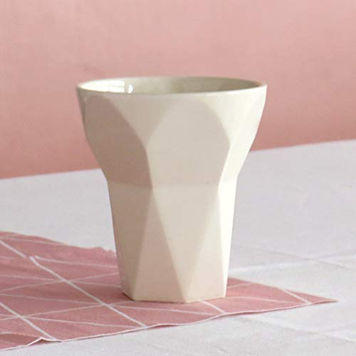 Amazon.com: Jewish Bar Mitzvah Gift Handmade Kiddush Cup, White Ceramic Geometric Style, Minimalist Wine Goblet for Shabbat, with Wood Coaster: Handmade