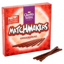 Quality Street Limited Edition Gingerbread flavour Matchmakers 120g (Pack of 10) by Quality Street Matchmakers