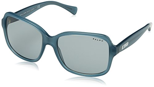 Ralph Lauren Women's 0ra5216 Square Sunglasses, Milky Smoke Teal, 56 - Lauren Ralph 135 Sunglasses