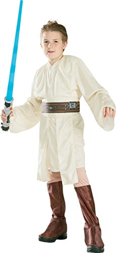 (Boys Obi Wan Kenobi Kids Child Fancy Dress Party Halloween Costume, M)
