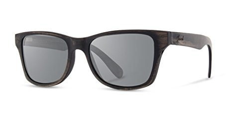 Shwood - Canby 2018+ Square Wood Sunglasses With Metal Core - Distressed Dark Walnut ()