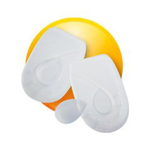 Oppo Medical Silicone Heel Cushions with Removable Pads (Unisex; White Pair), Large