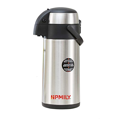 3l Electric Airpot - Stainless Steel Airpot Hot Tea Coffee Drinks Vacuum Flask Press Jug- Suitable For Hot Or Cold Drinks Up To 24 Hours (3L/5L (Color : B)