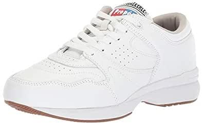 Propet Women's Cross Walker LE Sneaker, White, 7 2E US