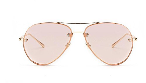 GAMT Aviator Sunglasses for Women Metal Frame Eyeglasses - Light Sunglasses Pink