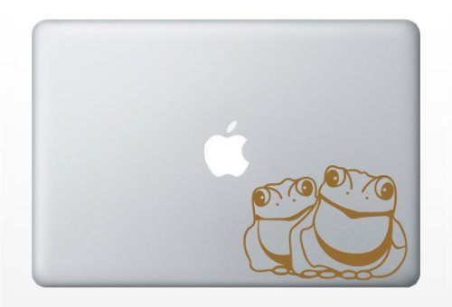 Bull Frog Laptop Decal   Car Vinyl Sticker  Gold Metallic