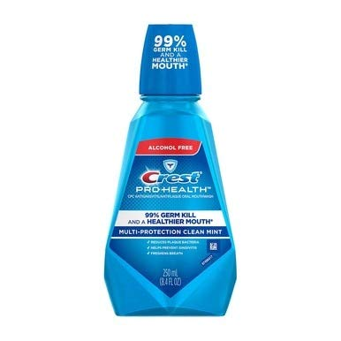 Clean Rinse Refreshing Mint - Crest Pro-Health Oral Rinse, Refreshing Clean Mint 250 mL (Pack of 3)