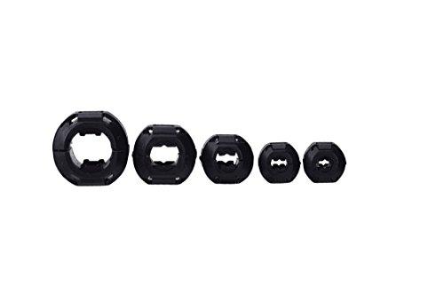 Wellcn 26 Pcs Ferrite Cores - EMI RFI Noise Filter Clip for 3mm/ 5mm/ 7mm/ 9mm/ 13mm Diameter-Black by Wellcn (Image #4)