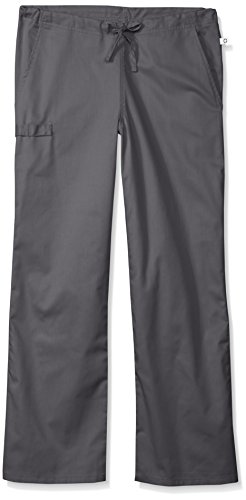 Cherokee Men's Petite WW Flex With Certainty Unisex Short Natural-Rise Drawstring Pant, Pewter, - Men Petite