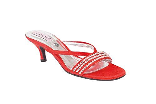 LEXUS - Zuecos para mujer fuchsia/red/silver rojo - rojo