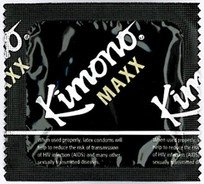 Kimono Maxx Premium LARGE Lubricated Latex Condoms and Silver Pocket/Travel Case-24 Count