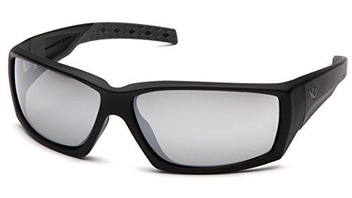 Venture Gear Overwatch Shooting Safety Sunglasses, Black, Silver Mirror Anti-Fog Lens