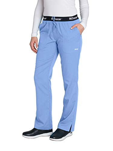 (Grey's Anatomy Active 4275 Drawstring Scrub Pant Ciel Blue L)