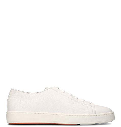 SANTONI Sneakers Uomo Mbcn14387ba6cmiai48 Pelle Bianco
