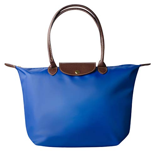 Laptop Tote Bag, Fits 15 Inch Nylon Waterproof Laptop Tote Bag/Nylon Travel Shoulder Tote Bag (Blue)