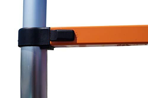 YiHai 10.5 FT Portable Aluminum Telescoping Ladder Extension Telescopic Step Ladder Compact Loft Ladders