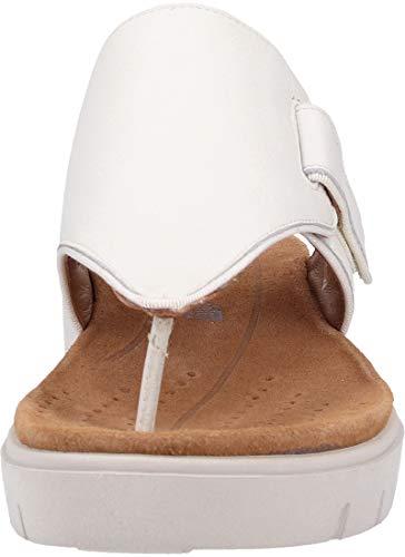 Sea Cuero Sandalias De Mujer Para Un Vestir Blanco Clarks Karely q7wpWnEH4A