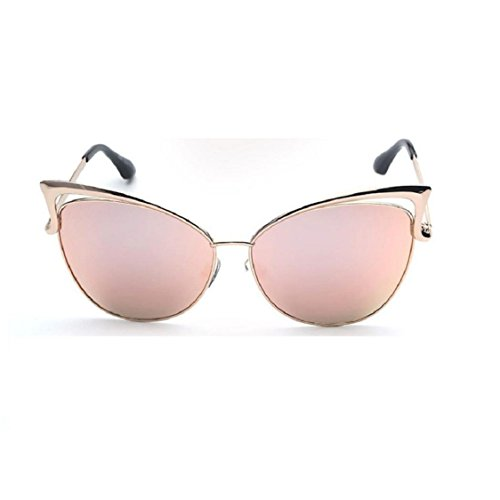 MAIDIEN Fashion Retro Men Women Clear Lens Glasses Metal Spectacle Frame Myopia Eyeglasses Sunglasses - Pink Frames Spectacle