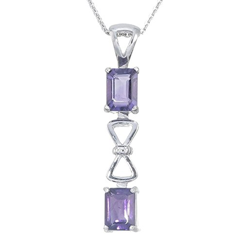 Sterling Silver Amethyst Pendant (1.30 CT) With 18 Inch Chain