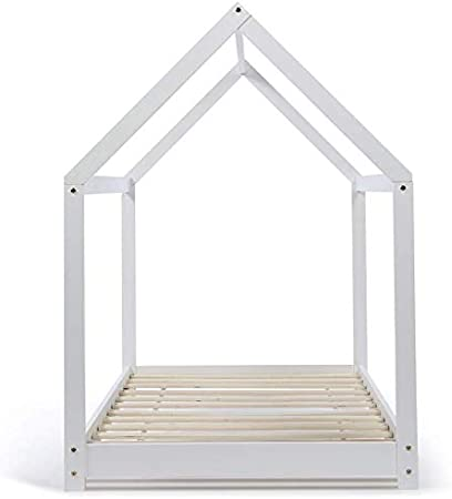 IDMarket – Cama Cabana 90 x 190 cm, Color Blanco: Amazon.es: Hogar