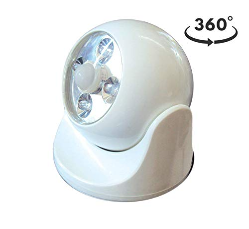 MAXSA Motion-Activated LED Light for Indoor & Outdoor Use, Super Bright Battery Powered Light Increases Visibility & Safety, White 40241