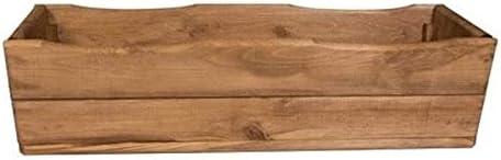 Plant Pot for Garden // Patio Wooden Planter Box D8 Oak Ready-Assembled