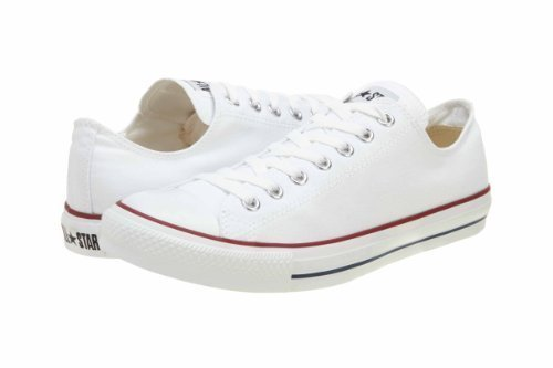(Converse Chuck Taylor All Star Ox Low Skate Shoes - Optical White-12)