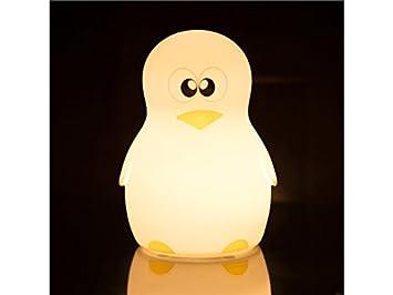 Sknsm Usb Nuit Pingouin Nursery Multicolore Lumière Silicone Chambre Bébé Led Enfants Pour Mignon De Lampe Lumières A5j4RL