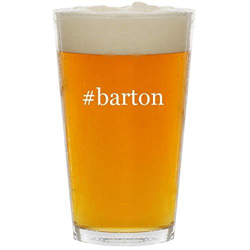 (#barton - Glass Hashtag 16oz Beer Pint)