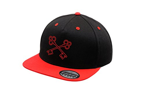 Cap Bordado Urbano Snapback Unisex Keys Gorra Original con Hat y Black Clasic Logotipo Red Visera Plana Ajustable Zf0xaI0q