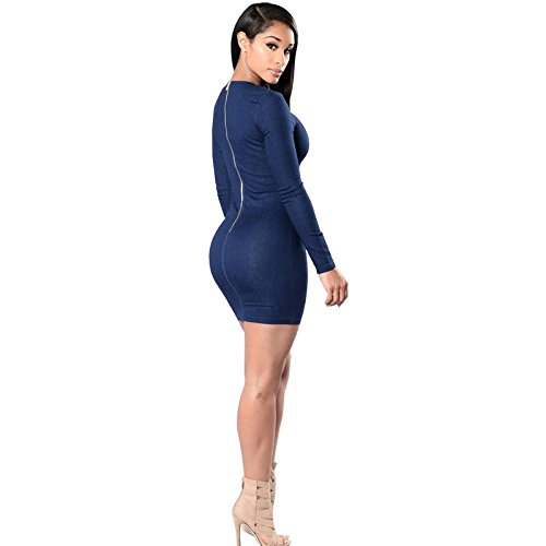 Carolina Dress Vestidos Ropa De Moda Para Mujer De Fiesta y Noche Casuales Elegante (M) VE0037 at Amazon Womens Clothing store: