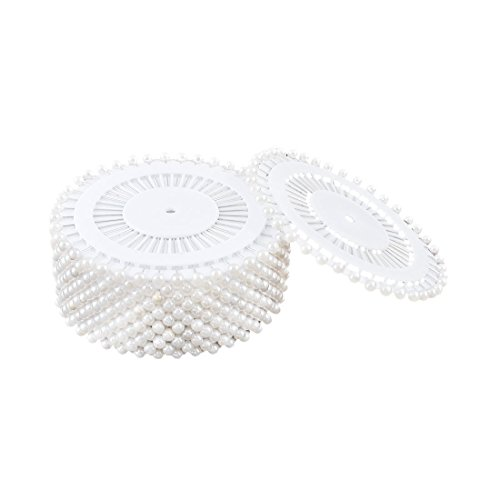 - 480 Grains Artificial White Pearl Head Pins Decorative Straight Dressmaking Pins