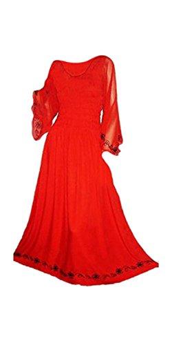 Langes Neu Rot Sexy Kleid Cool Maxi Romantisch Lyla Kaftans x6wnRqS