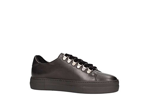 Scarpa Italy Pelle 40p5 Made Nero Donna Sneaker Frau In qAEaw