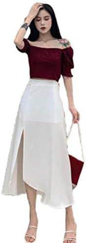 Ellteマキシスカート aライン 透け感 ロングスカート ホワイト スリット ボトムス 韓国風スカート デート お出掛け 半スカート 夏 フェミニン