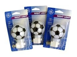 NEW Pack of 3 GE Soccer Ball Sports Decorative Night Lights by NEW