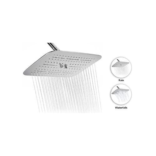 "80%OFF A-Flow™ Luxury Large 12"" Two Functions Showerhead – Rain and Multiple Waterfalls / Chrome Finish / Enjoy an Invigorating & Luxury Spa-like Experience - LIFETIME WARRANTY"